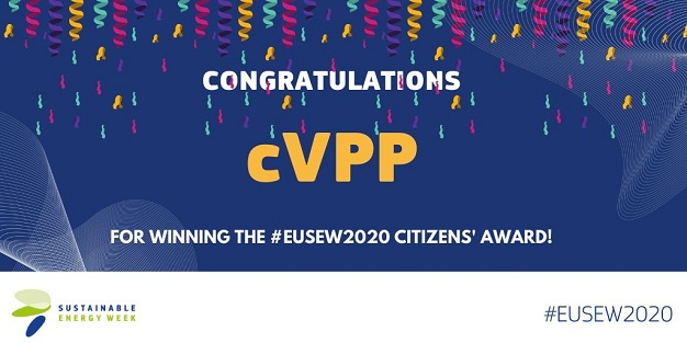 cVPP project wins Citizens Award at EU Sustainable Energy Week